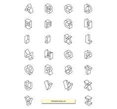 Penrose Type Family by Etienne Vles, via Behance