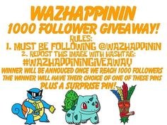 #Repost @wazhappinin  Wazhappinin guys?! We can't believe we are almost at our first 1000 followers! You guys have been super dope and supportive so we've decided to do our first giveaway! All you have to do is be following @wazhapPINin and repost this image with the hashtag #wazhappiningiveaway and once we hit 1000 followers we'll be announcing the winner! The winner will have their choice of pin plus a surprise pin! Thank you everyone and good luck! #wazhappinin #giveaway #contest…