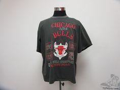 Vtg 90s 1993 Long Gone Chicago Bulls NBA Finals Short Sleeve t Shirt sz XL Rings #LongGone #ChicagoBulls #tcpkickz