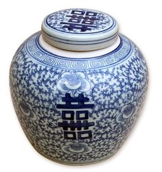 """New Arrival From Jingdezhen China:  9"""" Tall Chinese Blue & White Porcelain Lotus Jar * Only Few Remaining"""