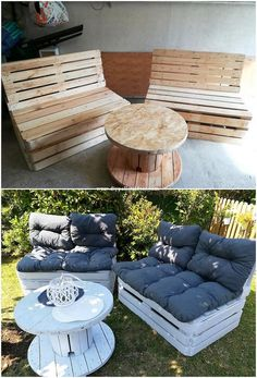 In almost majority of the guest houses you might have capture the taste of placing pallet furniture set in a modish patterns! This is much a simple idea of recycling the old wood pallets. You can even make it stand inside the large garden if you have any. Try with this wood pallet recycling idea right now!