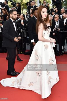 Liu Yifel attends the 'Cafe Society' premiere and the Opening Night Gala during the 69th annual Cannes Film Festival at the Palais des Festivals on May 11, 2016 in Cannes, France.