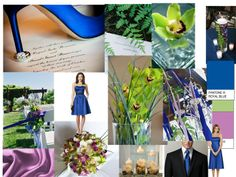 blue green and light purple : PANTONE WEDDING Styleboard : The Dessy Group