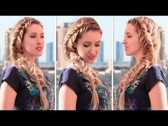 French fishtail braid tutorial: reversed, inside out ❤ Frozen's Elsa back to school hairstyles - YouTube