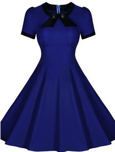 Blue Made-to-Order Retro 50s Pinup Girl Rockabilly Style Dress by After The Rain - Brides & Bridesmaids - Wedding, Bridal, Prom, Formal Gown - Alternative Measures -