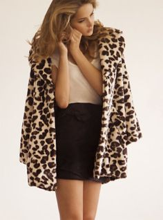 How to work cheetah... Less is More. Pair a beautiful swing jacket with a subdued sophisticated dress or blouse with skirt/pants. This is a HIT!