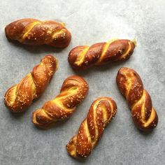 Soft Pretzel Twists. They are super easy to make.  The time that you actually have to do something is minimal. They need an hour to rise and 8 minutes in the oven.  So I just set my timer while I was busy with other stuff. Recipe: http://cravingsinamsterdam.com/2015/02/06/soft-pretzel-twists/
