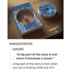 WHY WOULD A PERSON CUT UP A HARRY POTTER BOOK JUST SO THEY COULD PUT A DEEP QOUTE ON TUMBLR THIS IS MAKING ME MAD