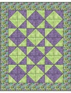 TUMBLING TRIANGLES 3 YD QUILT PATTERN by maureen