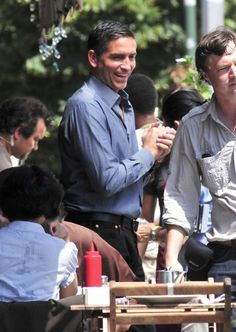 I love Jim Caviezel's smile in this picture. Jim is an altogether awesome guy. :)