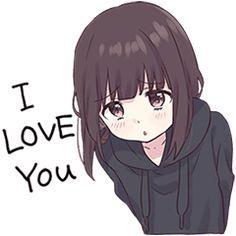 LINE Stickers Menhera-chan.Animation 2 EN,joynet,Look at me! Please use a lot. Anime Neko, Kawaii Anime Girl, Loli Kawaii, Cute Anime Chibi, Kawaii Chibi, Cute Anime Pics, Anime Girl Cute, Beautiful Anime Girl, Anime Art Girl