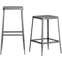flint steel barstools in dining chairs, barstools | CB2 15Wx15D