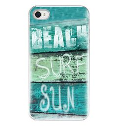 Items similar to Iphone Case - Beach Surf Sun Quote Aqua Green Surfer Iphone 4 4s Cover Beachy Retro on Etsy