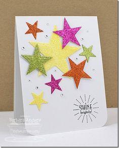 glittery stars card