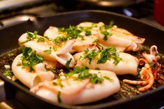 Squid, stewed with pickles Greek Recipes, Wine Recipes, Italian Recipes, Italian Foods, Slow Food, Food N, Organic Recipes, Ethnic Recipes, Fresh Fruit
