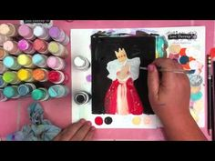 Tim Holtz Dabbers - Art Journal - Jane Davenport  - royal set Artini for all of Jane's free videos