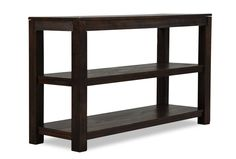 """FAMILY ROOM Grinlyn Sofa Table 50""""W x 17""""D x 30""""H $250   Living Spaces"""