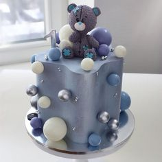 """We have collection of stunningly beautiful cake decorating to help inspire your baking passions and delight to the guest of honor. Take a look at the gallery board """"Cake Designs"""" Teddy Bear Birthday Cake, Baby Birthday Cakes, Baby Boy Cakes, Pretty Cakes, Cute Cakes, Beautiful Cakes, Amazing Cakes, Stunningly Beautiful, Baby Cake Design"""