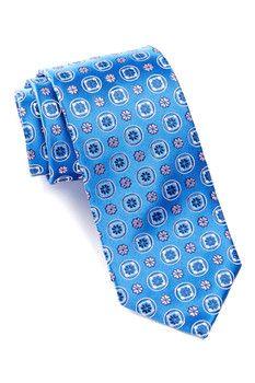 HUGO BOSS Silk Floral Squares Tie
