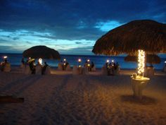 Beautiful dinner on the beach in Aruba