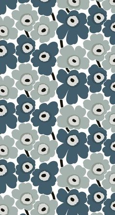 iPhone壁紙 Wallpaper Backgrounds and Plus Marimekko Unikko iPhone Wallpaper Wallpaper Iphone Cute, Aesthetic Iphone Wallpaper, Flower Wallpaper, Pattern Wallpaper, Cute Wallpapers, Wallpaper Backgrounds, Pattern Drawing, Pattern Art, Pattern Design