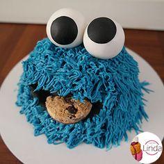 Smash cake Cookie monster
