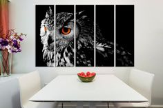 5 Panel Split  Northern Pygmy Owl Canvas Print by CanvasQuest