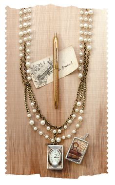 Jewel Kade's Triple Brass and Pearl necklace. I just got this piece and love it! check it out at LoriC@jewelkade.com