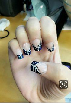 Decorado exclusivo nails nails, french nails и acrylic nails Nail Tip Designs, Acrylic Nail Designs, Acrylic Nails, Nail Manicure, Diy Nails, Cute Nails, Manicure Ideas, French Nail Art, French Tip Nails
