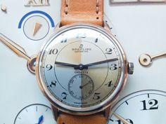 Vintage Breitling Cadette, Arlequin Dial