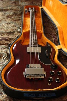 Gibson EB-3 (SG Bass) 1967 Cherry Red Vintage w/ case