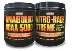 Nitro-Rage Xtreme & Anabolic BCAA 5000-Pre-Workout Power Combo. Muscle Recovery, Rage, Strength, The Incredibles, Workout, Hot, Work Out, Exercises, Electric Power