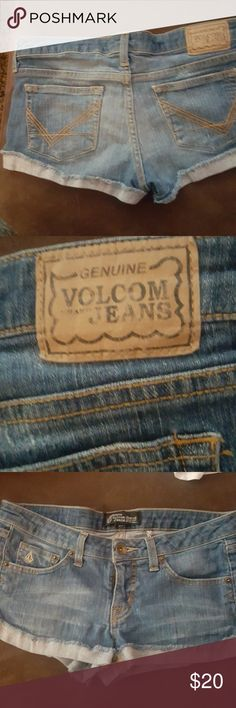 volcom shorts cute daisy dukes great condition Volcom Shorts Jean Shorts