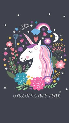 Unicorns are real - unicorn illustration cute. Real Unicorn, Unicorn Face, Cute Unicorn, Rainbow Unicorn, Rainbow Galaxy, Black Unicorn, Magical Unicorn, Unicorn Wallpaper Cute, Unicorns Wallpaper