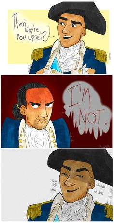 """""""he's not upset"""" - I'm probs NEVER gonna stop making fun of angry!hamilton, and i think i'll keep going..."""