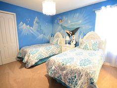 Frozen Bedroom Lighting | Incredible Frozen Themed Bedroom With Frozen