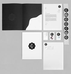 Resolve logo and stationery design by Neue
