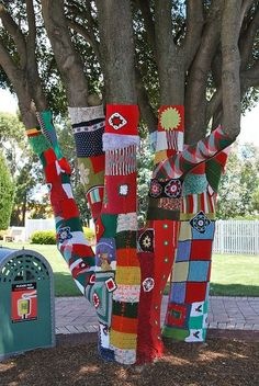yarn bombing: