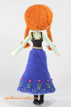 PATTERN 2-PACK: Anna and Elsa Frozen Crochet Amigurumi Dolls