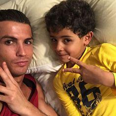 Cristiano Ronaldo and his son Cristiano junior