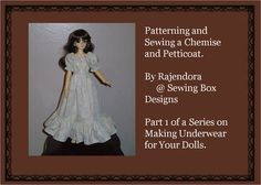 ~Chemise and Petticoat Part 1~ How to Pattern and Sew a Simple Chemise and Petticoat