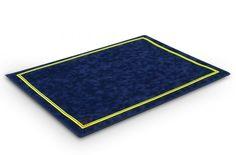 Tapis de poker Morize 70x50 (bleu) - Pokeo.fr - Tapis de jeu haut de gamme Morize Chavet antidérapant en suédine bleue 70x50cm.