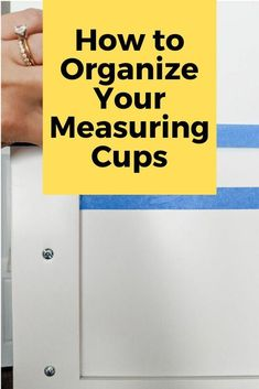 If you hate having your measuring cups floating around in your drawers you'll love this kitchen organizing tip. Head on down to the dollar tree store for this kitchen organization hack idea for your cabinets. Industrial Kitchen Design, Vintage Industrial Furniture, Industrial Shelving, Kitchen Organisation Hacks, Kitchen Organization, Organizing Tips, Kitchen Storage, Layout Design, Diy Design