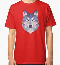 Game Of Thrones Polygonal Dire Wolf | RedBubble Red Classic TShirt | All Sizes Available for Men @redbubble @RedHillStudios