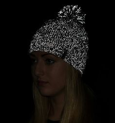 REFLECTIVE woolen beanie hat marl grey  e-kanape high by kanape