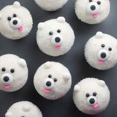 Polar Bears Mini Cupcakes --- or make me this... i LOVE polar bears!