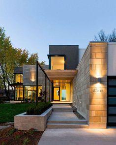 Modern Home Design Exterior 71 Contemporary Exterior Design Photos Best Ideas Modern Entrance, Entrance Design, House Entrance, Entrance Ideas, Modern Entry, Modern Living, Entrance Table, Entrance Decor, Door Ideas