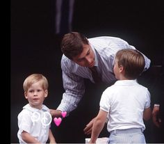 Princes Harry & William with Uncle Andrew ~
