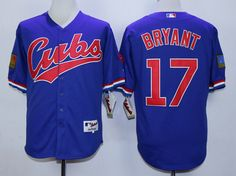 MLB CHICAGO CUBS #17 BRYANT 1994 TURN BACK THE CLOCK BLUE JERSEY