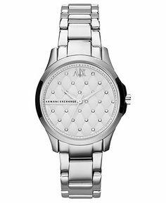 A X Armani Exchange Watch, Women's Stainless Steel Bracelet 36mm AX5208 Web ID: 781356